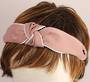 Fashion pearl bead knotted headband pink Style: HS/4671/PNK