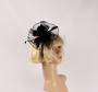 Head band crin  fascinator w feathers  black STYLE: HS/4676 /BLK