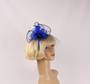 Head band crin  fascinator w feathers  blue STYLE: HS/4676 /BLU