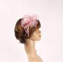 Head band crin  fascinator w feathers and beads pink STYLE: HS/4677 /PINK