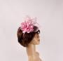 Headband fascinater w flower blush STYLE: HS/4680/BLSH