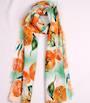 Alice & Lily printed  scarf floral orange Style:SC/4743ORA