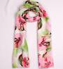Alice & Lily printed  scarf floral pink Style:SC/4743PNK