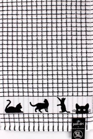 Samuel Lamont poli dri black cats  tea towel Code:TT-706JCATS