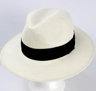 Fedora white w black band  Style: HS/9115
