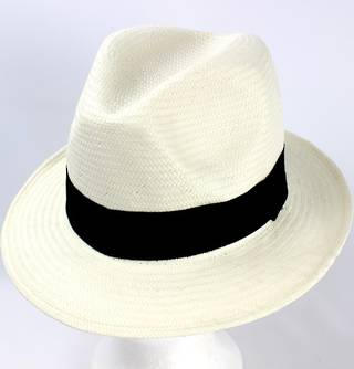 Trilby white w black band  Style: HS/9116