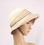 HEAD START  crochet crown w cotton brim ivory/beige   Style:HS/9133