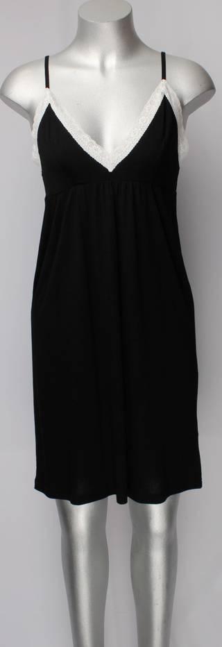 Bamboo cotton lace trim black w cream lace STYLE: AL/ND-106