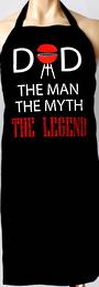 Awesome Aprons 'Dad the man the Myth the Legend' Code: APR/DAD