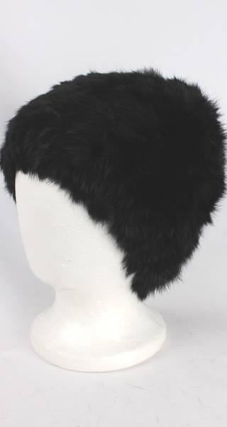 Warm winter fur beanie black Style: HS4420 BLK