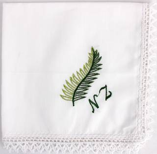 Embroidered lace handkerchiefs ' fern ' Style: EHC-FERN