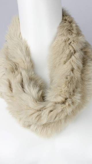 Alice & Lily fur snood plain cream STYLE: SC/4375CRM-