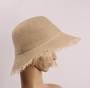 HEAD START fringed linen packable hat nat Style: HS/4665/NAT