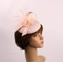 Linen headband hatinater w floral feather pink STYLE: HS/4683 /PIN
