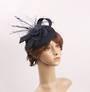 Linen headband hatinater w floral feather navy STYLE: HS/4683 /NAV