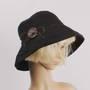 HEAD START button linen  cotton hat black Style: HS/4701/BLK