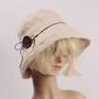 HEAD START button linen  cotton hat beige Style: HS/4701
