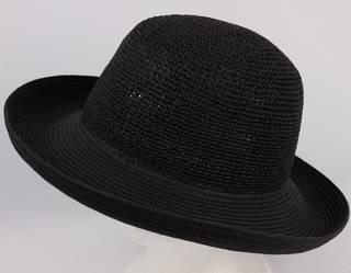Braid brim crocheted black Style: HS/9080