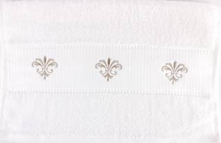 Embroidered cotton hand towel 40x80cm 'Fleur' Code: HT-FLEUR