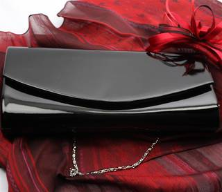 Patent evening bag black STYLE:AL/1004/BLK