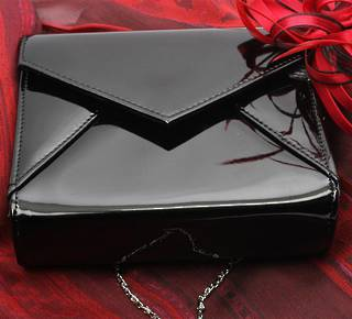 Patent evening bag black Style : AL/1002/BLK