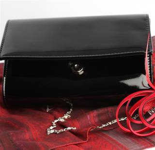 Patent evening bag black Style : AL/1000/BLK