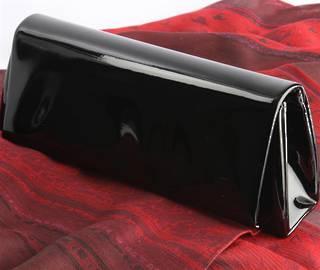 Patent evening bag black Style : AL/1001/BLK