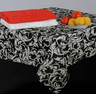 Scroll tablecloth black 140x180cm Code:T/C-SCR/180/BLK