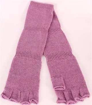 Ladies wool/angora mix fingerless  glove lilac S/LK2366