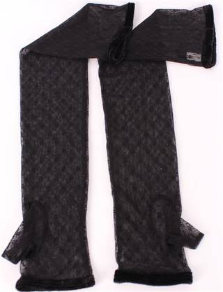 Ladies net elbow length evening glove black S/EV5293