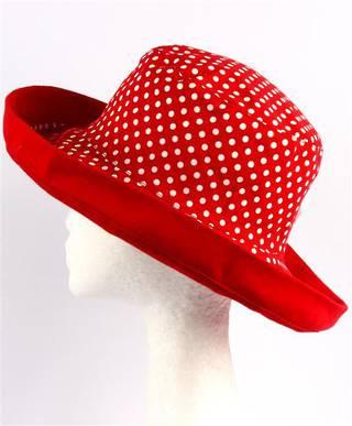 Spot noosa hat red spots Code:HS/5601