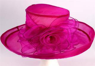 Organza fashion hat rose Code:HS/1213