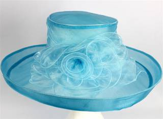 Organza fashion hat turquoise Code:HS/1213