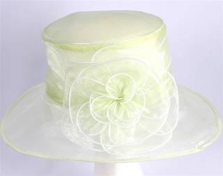 Organza fashion hat lime Code:HS/1216
