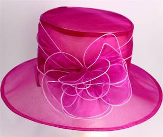 Organza fashion hat rose Code:HS/1216
