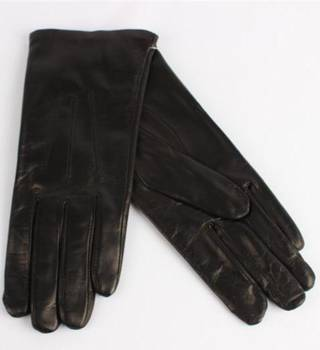 Italian Leather ladies glove unlined black Code-S/LL2362U