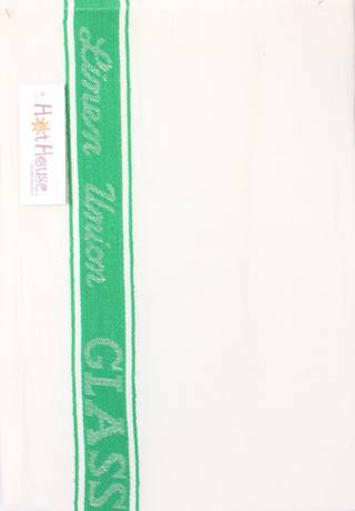 Tea Towel linen union glass cloth 50/50 linen/cotton -herringbone weave green Code: T/T-LIN/GLA/GRN