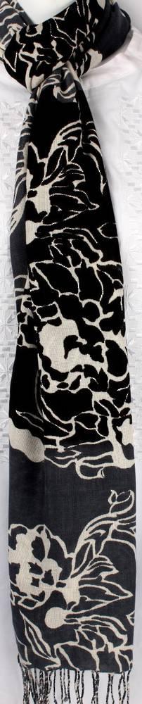 Pure viscose shawl/scarf Style:SC/PETALS