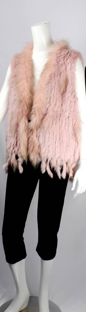 Alice & Lily fur vest blush STYLE: SC/4374BLUSH - SORRY SOLD OUT FOR SEASON