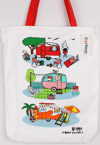 Retro Caravans tote bag Code: TB-RET.
