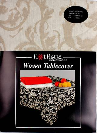 Scroll tablecloth cream 140x180cm Code:T/C-SCR/180/CRM