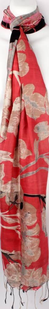 100% silk Indian handmade scarf  'adah' pink multi Style: SC/SUM16/4