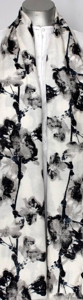 Pure viscose shawl/scarf Style:SC/BLOSSOM