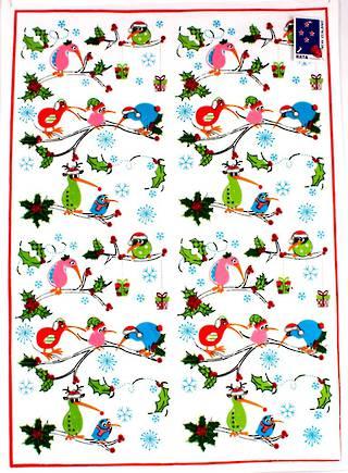 Tea Towel 'Christmas Kiwis' Code:T/T-CH/CK