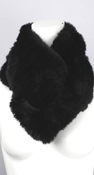 Alice & Lily faux fur double snood plain black STYLE: SC/4378 BLK