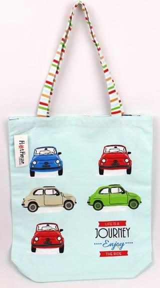 Bambina tote bag 'life's a journey enjoy the ride' Code: TB-BAM