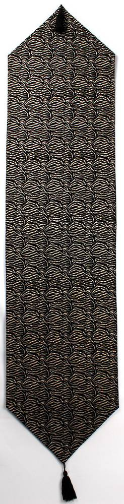 Savanna table runner with tassles  35x180cm black Code: T/R-SAV/180