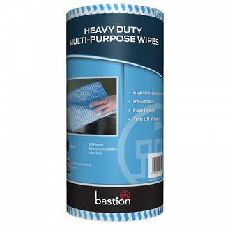30x50cm Bastion Blue Wipes 90