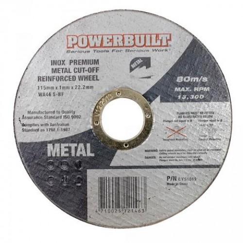 115mm Inox Metal Cut Off Disc