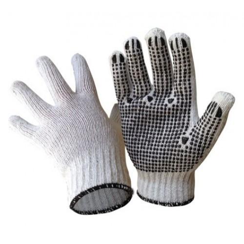 Cotton Knit PVC Dot Gloves